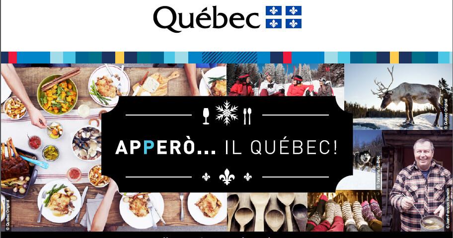 L'eno-gastronomia del Québec in degustazione a Milano e a Roma