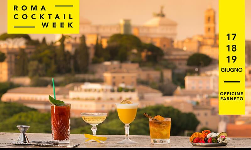 Roma Cocktail Week, terza edizione dal 17 al 19 giugno