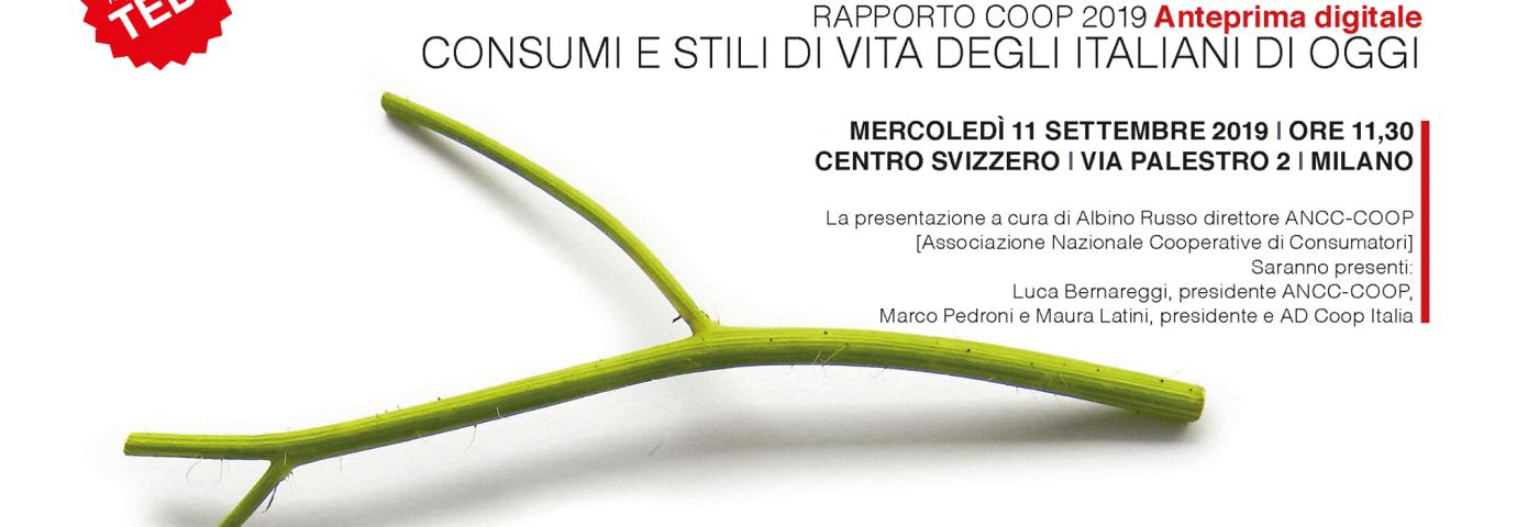 """L'11 settembre a Milano anteprima digitale del """"Rapporto Coop 2019"""""""
